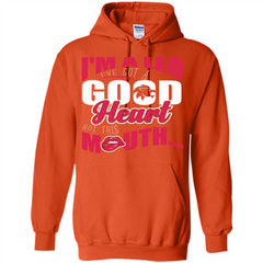 Leo T-shirt Im A Leo Ive Got A Good Heart But This Mouth Pullover Hoodie 8 oz - WackyTee