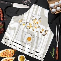 Cute Cat Fried Egg 3D Apron