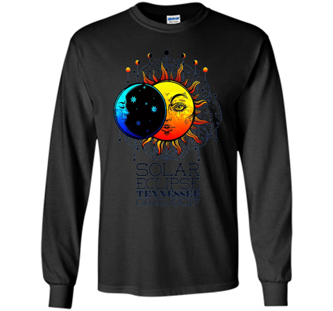 Tennessee Total Solar Eclipse Tennessee Ancient TT-shirt Black / S LS Ultra Cotton Tshirt - WackyTee