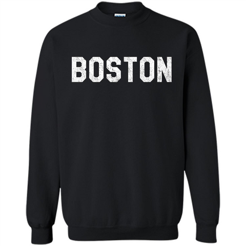 Boston T-Shirt Love Boston Black / S Printed Crewneck Pullover Sweatshirt 8 oz - WackyTee