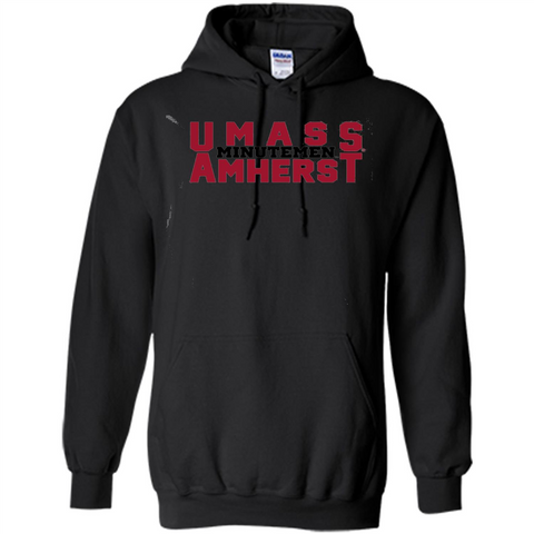 Massachusetts Minutemen UMass Amherst T-shirt Black / S Pullover Hoodie 8 oz - WackyTee