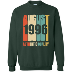 August 1996 Authentic Quality T-shirt Printed Crewneck Pullover Sweatshirt 8 oz - WackyTee