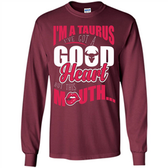 Taurus T-shirt Im A Taurus Ive Got A Good Heart LS Ultra Cotton Tshirt - WackyTee