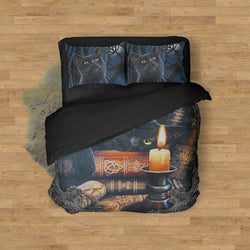 Witching Hour Black Cat Halloween Bed Set