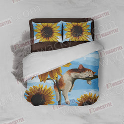 Cat And Sunflower Bed Set