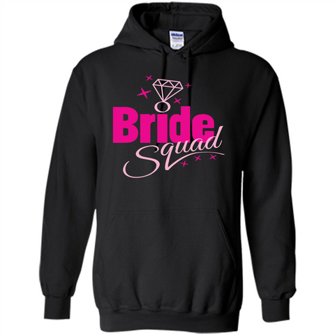 Bride Squad Bachelorette Party T-shirt Black / S Pullover Hoodie 8 oz - WackyTee