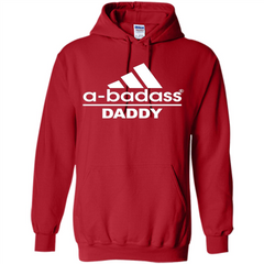 Fathers Day T-shirt A Badass Daddy Pullover Hoodie 8 oz - WackyTee