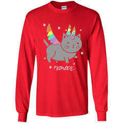 Funny Meowgical Cat Unicorn T-shirt For Cat Lover LS Ultra Cotton Tshirt - WackyTee