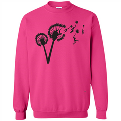 Dandylion Flight T-shirt Printed Crewneck Pullover Sweatshirt 8 oz - WackyTee