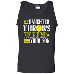 My Daughter Throws Harder Than Your Son Softball Parents T-shirt
