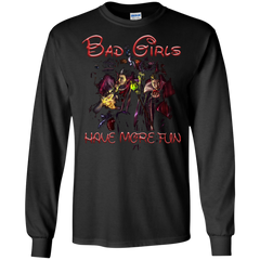 Witch T-shirt Bad Girls Have More Fun T-shirt LS Ultra Cotton Tshirt - WackyTee