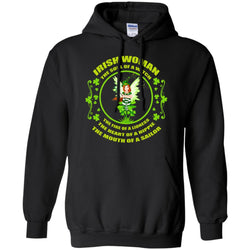 Irish Woman The Soul Of A Witch The Fire Of A Lioness The Heart Of A Hippie The Mouth Of A SailorG185 Gildan Pullover Hoodie 8 oz.