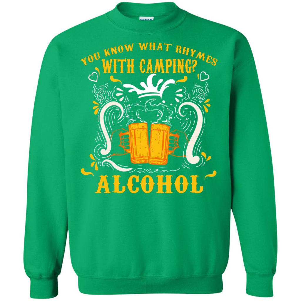 You Know What Rhymes With Camping Alcohol Beer Camping Gift