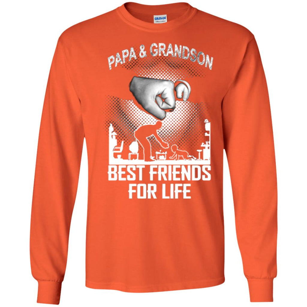 ee7a01f6 Papa And Grandson Best Friends For Life Family Shirt G240 Gildan LS Ultra  Cotton T-