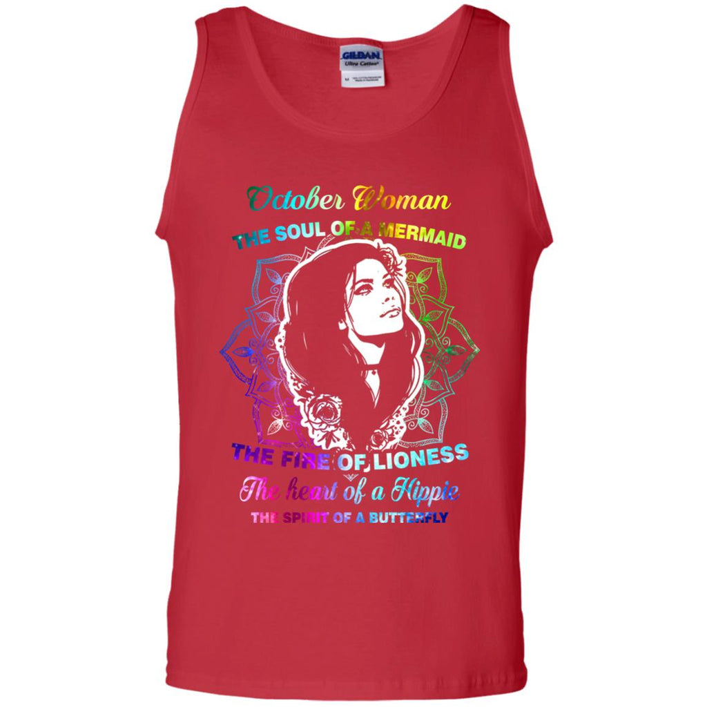 667a2a061 October Woman Shirt The Soul Of A Mermaid The Fire Of Lioness The Heart Of A
