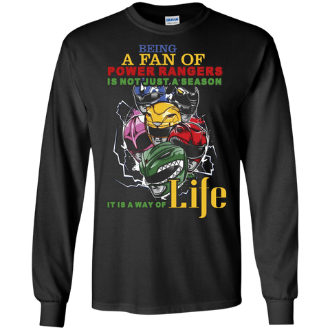 Gaoranger T-shirt Being A Fan Of Power Rangers Is Not Just A Season Black / Small LS Ultra Cotton Tshirt - WackyTee