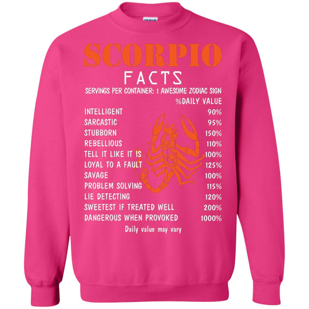 Scorpio Facts 1 Awesome Zodiac Sign Gift Shirt For Scorpio Horoscope