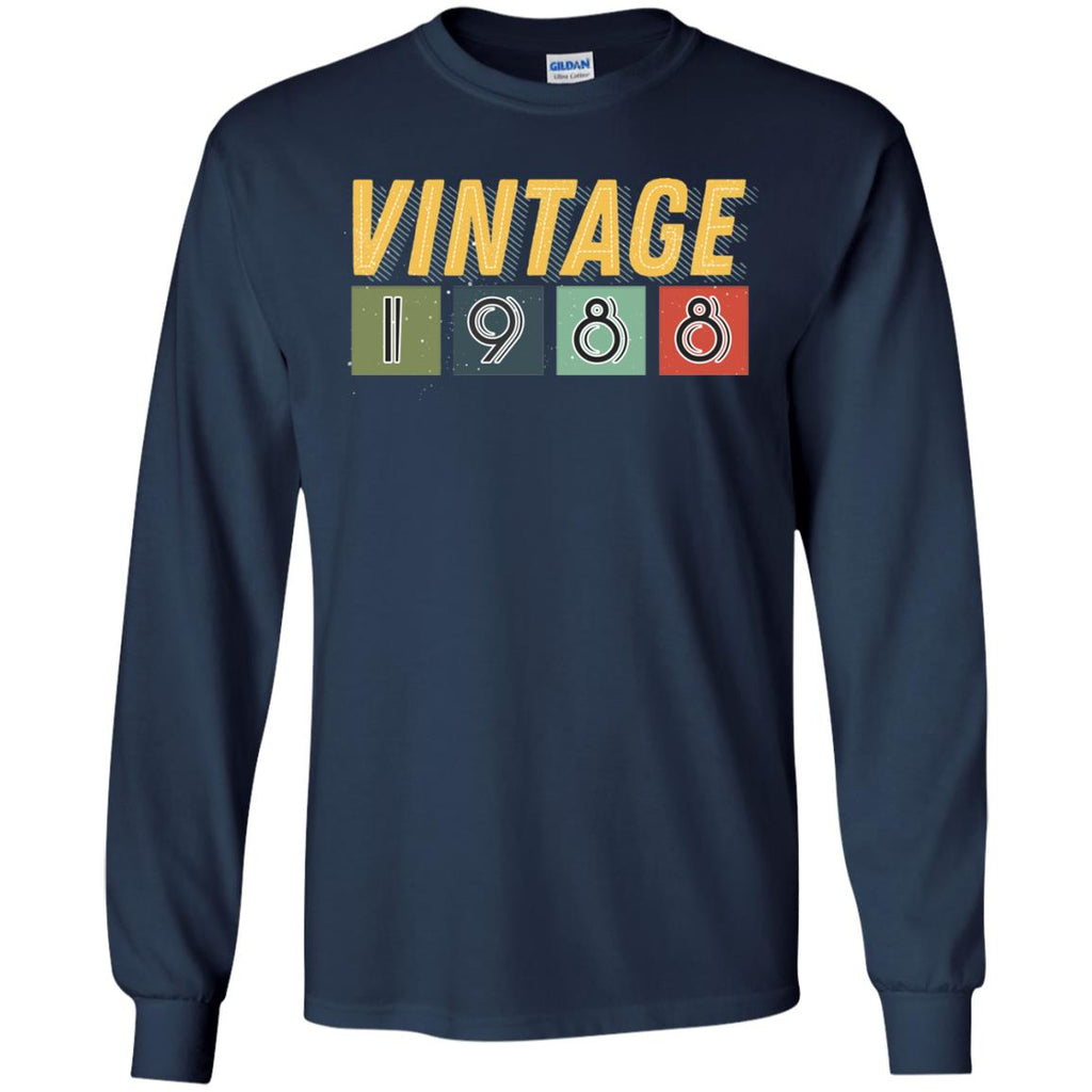 Vintage 1988 30th Birthday Gift Shirt For Mens Or WomensG240 Gildan LS Ultra Cotton T