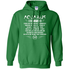 Aquarius Certified Either Love Hard Or Hate Passionately Powerful Af T-shirt Pullover Hoodie 8 oz - WackyTee