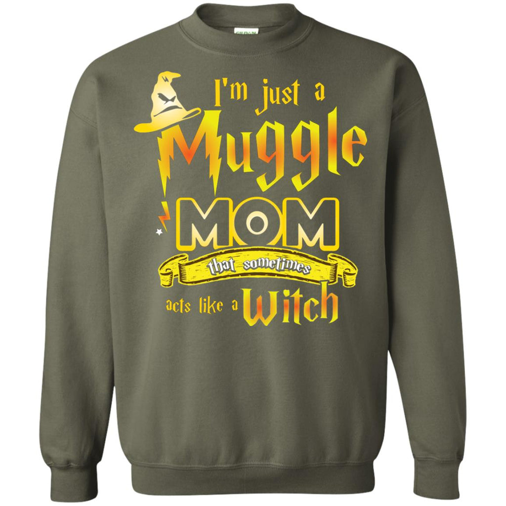 7a3f6f402 I_m Just A Muggle Mom That Sometimes Acts Like A Witch Fan Harry Potter  Shirt For