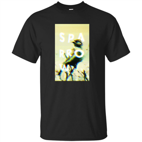 Glitched Sparrow T-shirt Black / S Custom Ultra Tshirt - WackyTee