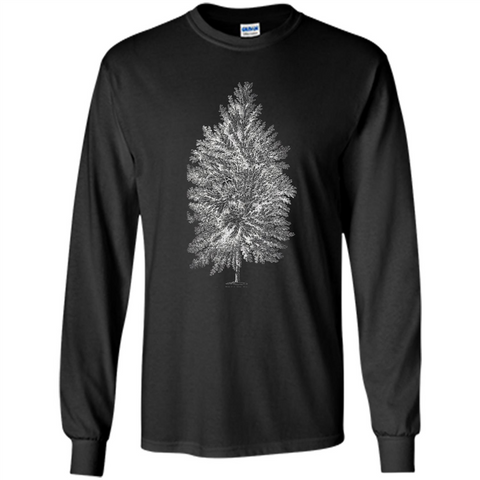 Poplar Tree T-shirt. Tree Poplar Tree T-shirt Black / S LS Ultra Cotton Tshirt - WackyTee