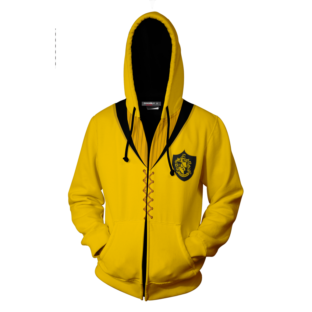 The Team Harry Up Hufflepuff Zip Quidditch Potter Hoodie 53SLcR4Ajq