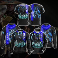Mortal Kombat Raiden Unisex 3D Zip Up Hoodie Fullprinted Zip Up Hoodie - WackyTee