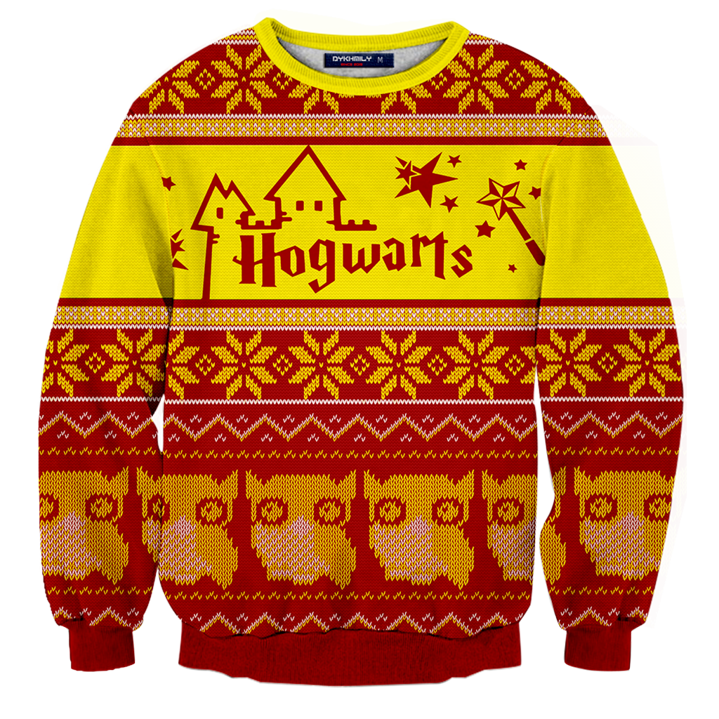 31bacc18d Gryffindor Harry Potter Ugly Christmas 3D Sweater Fullprinted 3D Sweater -  WackyTee