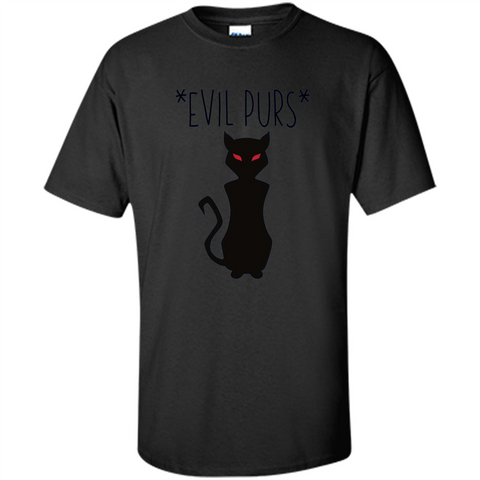 Halloween Black Cat T-shirt Evil Purs Mean Kitty Lovers Gift T-shirt Black / S Custom Ultra Cotton - WackyTee
