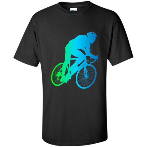 Bike Rider T-shirt Colorful Bicycle Biking Lover T-shirt Black / S Custom Ultra Cotton - WackyTee