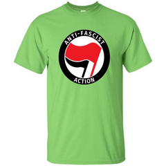 Anti - Fascist Action T-shirt Custom Ultra Tshirt - WackyTee