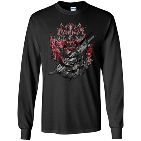 Final Fantasy Amano Homage T-shirt Black / S LS Ultra Cotton Tshirt - WackyTee