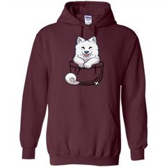 Pocket Samoyed T-shirt Cute Samoyed tshirt Pullover Hoodie 8 oz - WackyTee