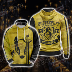 Harry Potter - Hufflepuff House Quidditch Unisex 3D Hoodie