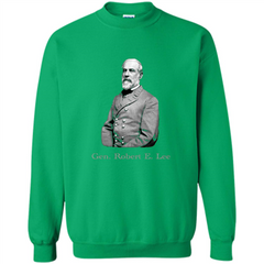 Military T-shirt General Robert E. Lee T-Shirt Printed Crewneck Pullover Sweatshirt 8 oz - WackyTee