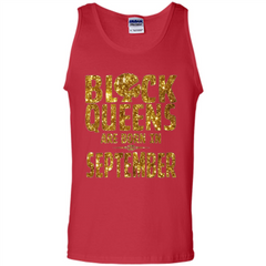September Queens T-shirt Black Queens Are Born In September T-shirt Tank Top - WackyTee