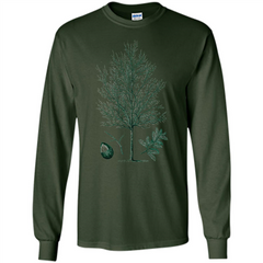 Oak Tree T-Shirt. Tree Acorn Oak Tree Woodsman T-shirt LS Ultra Cotton Tshirt - WackyTee