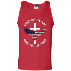 Stand For The Flag Kneel For The Cross T-shirt Tank Top - WackyTee