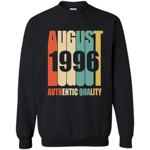 August 1996 Authentic Quality T-shirt Black / S Printed Crewneck Pullover Sweatshirt 8 oz - WackyTee