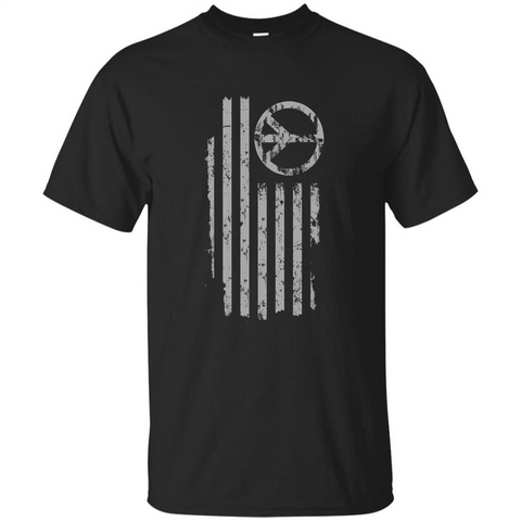American Peace Flag T-shirt Patriotic Peace Sign Flag Shirt Black / S Custom Ultra Tshirt - WackyTee