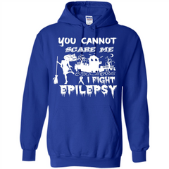 Epilepsy Awareness T-shirt You Cannot Scare Me I Fight Epilepsy T-shirt Pullover Hoodie 8 oz - WackyTee