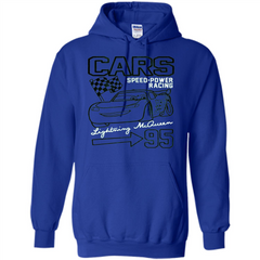 Pixar Cars McQueen Speed Power Racing 95 T-shirt Pullover Hoodie 8 oz - WackyTee