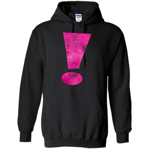 Exclamation Point Graphic T-shirt Black / S Pullover Hoodie 8 oz - WackyTee
