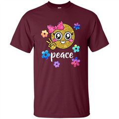 Cute Emoji Peace T-shirt Custom Ultra Tshirt - WackyTee