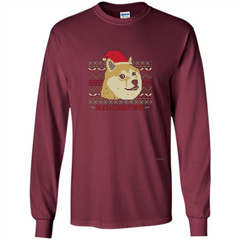 Funny Christmas Dog Lover T-shirt Such Christmas LS Ultra Cotton Tshirt - WackyTee