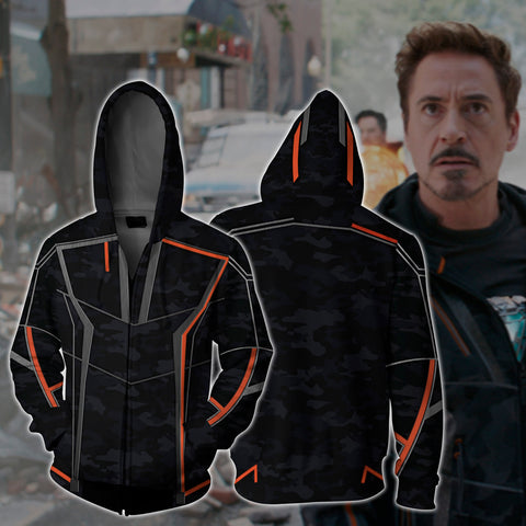 Iron Man (Tony Stark) Zip Up Hoodie US/EU XXS (ASIAN S) Fullprinted Zip Up Hoodie - WackyTee