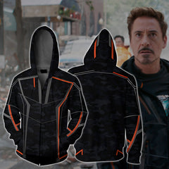 Iron Man (Tony Stark) Zip Up Hoodie Fullprinted Zip Up Hoodie - WackyTee