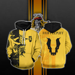 Quidditch Hufflepuff Harry Potter 3D Hoodie