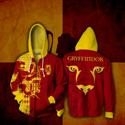 Quidditch Gryffindor Harry Potter Zip Up Hoodie